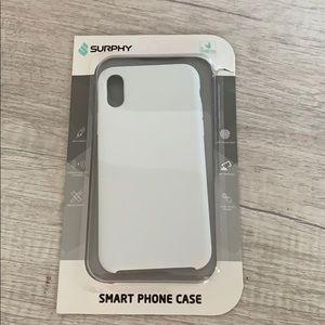 white surphy i phone x case NEVER USED